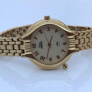 Timex Indiglo Ladies Watch Gold Tone Analog Wrist